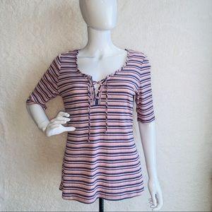 No Comment Size XL Top Lace Up Shirt